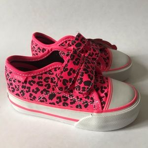Vans Hot Pink Leopard Print Toddler Shoes